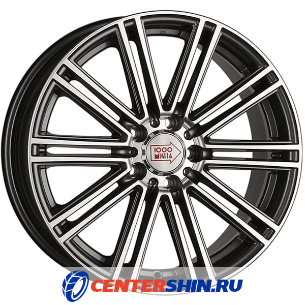 Колесный диск 1000 MIGLIA MM1005 7.5х17/5х114.3 D67.1 ET40 Dark Anthracite Polished