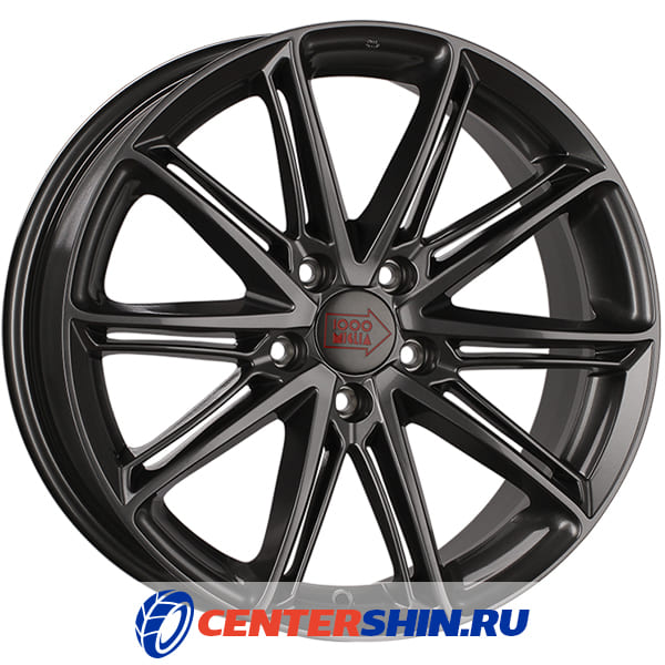 Колесный диск 1000 MIGLIA MM1007 7.5х17/5х112 D66.6 ET45 Dark Anthracite High Gloss