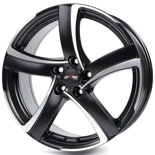Колесный диск Alutec Shark 8,0x18 5/112 ET45 d-70,1 Racing Black Front Polished (SH80845B73-5) MP