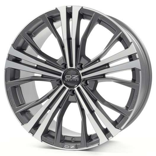 Колесный диск OZ Cortina 9,5x20 5/130 ET52 d-71,6 Matt Dark Graphite Diamond Cut (W0188300149)
