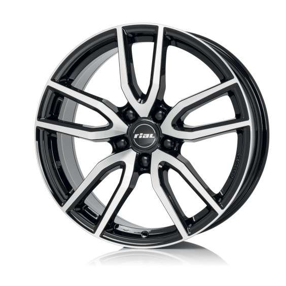 Колесный диск Rial Torino 8,0x18 5/112 ET45 d-70,1 Diamond Black Front Polished (TOR80845B73-1) MP
